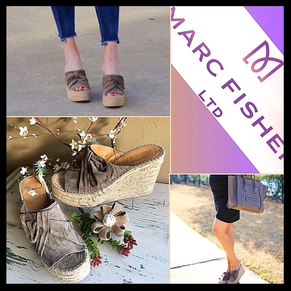 9d33d303adf MARC FISHER 'Aida' Olive Suede Espadrille Wedge